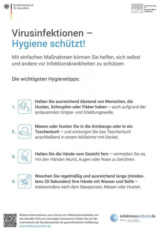 Virusinfektionen - Hygiene schützt