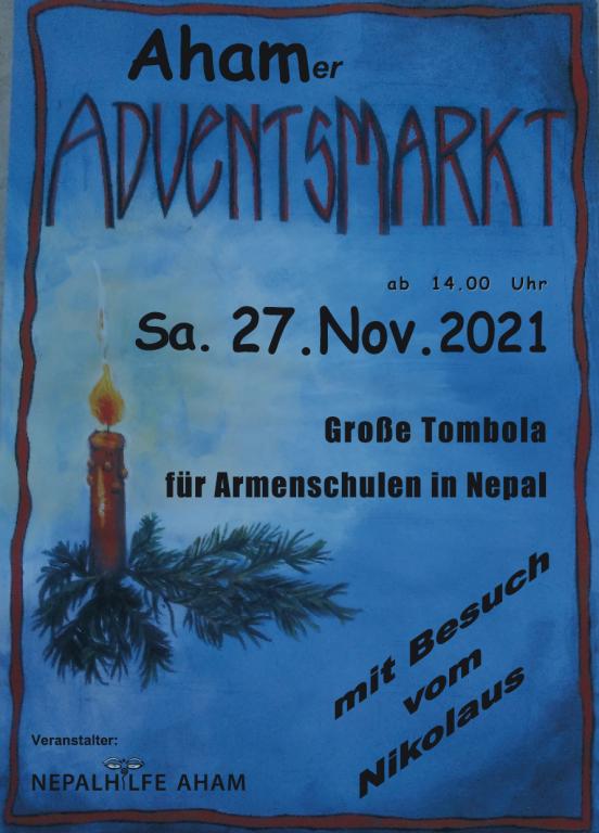 Adventsmarkt der Nepalhilfe-Aham mit großer Tombola